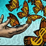 giving butterflies dollar signs
