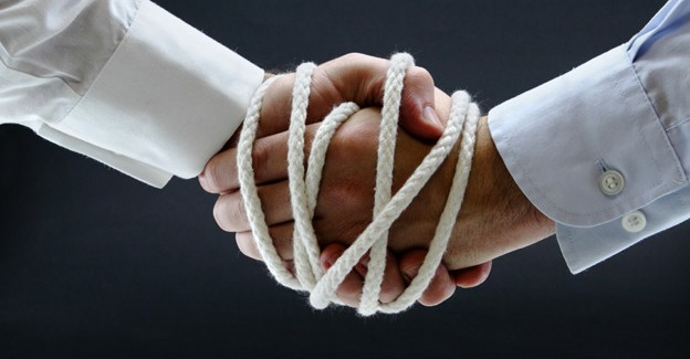 picture of two hands tied together principles of influence