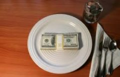 image of a plate with a bundle of money on it major event gifts