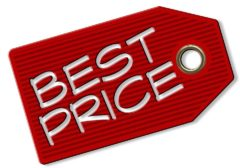 Graphic of picture of price tag prices donor asks