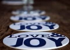 picture of buttons that say love and joy major gift fundraising