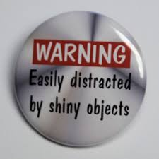 Easily distracted by shiny objects.