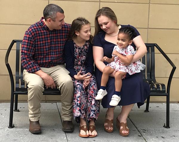 An adoptive family helped by DePelchin Children's Center.